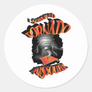 I Survived Tornado Missouri Classic Round Sticker