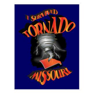 I Survived Tornado Missouri Postcard