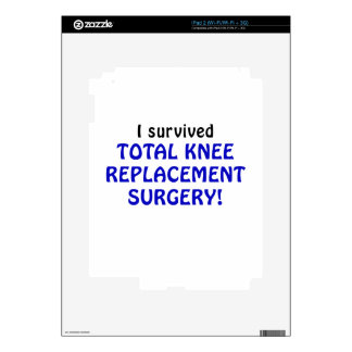 I Survived Total Knee Replacement Surgery Decals For The iPad 2