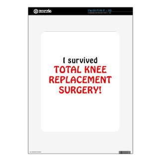 I Survived Total Knee Replacement Surgery iPad Decal
