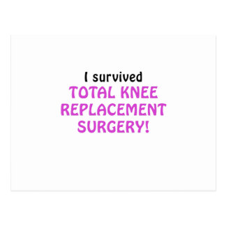 I Survived Total Knee Replacement Surgery Postcard