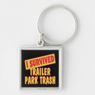 I SURVIVED TRAILER PARK TRASH KEYCHAIN