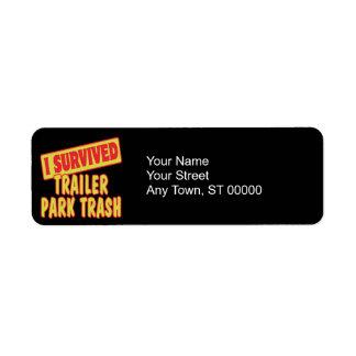 I SURVIVED TRAILER PARK TRASH LABEL