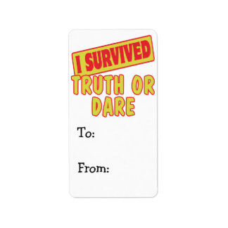 I SURVIVED TRUTH OR DARE LABEL