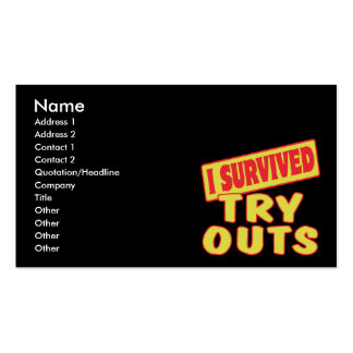 I SURVIVED TRY OUTS Double-Sided STANDARD BUSINESS CARDS (Pack OF 100)