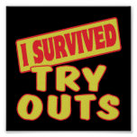 I SURVIVED TRY OUTS PRINT