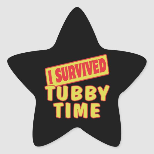 I SURVIVED TUBBY TIME STAR STICKERS