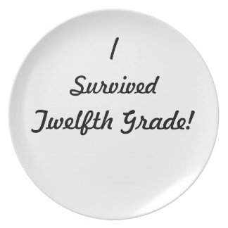 I survived Twelfth Grade! Party Plates