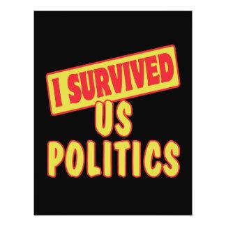 I SURVIVED US POLITICS CUSTOM FLYER