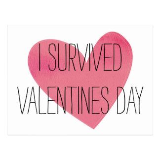 I Survived Valentines Day Postcard