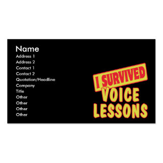 I SURVIVED VOICE LESSONS Double-Sided STANDARD BUSINESS CARDS (Pack OF 100)
