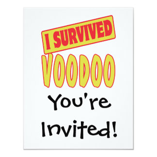 I SURVIVED VOODOO 4.25X5.5 PAPER INVITATION CARD