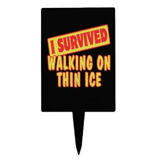 I SURVIVED WALKING ON THIN ICE CAKE PICK