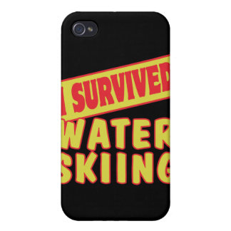 I SURVIVED WATER SKIING iPhone 4 CASE