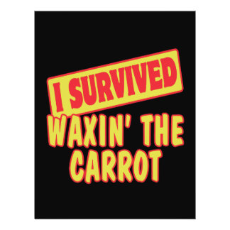 I SURVIVED WAXING THE CARROT FLYER