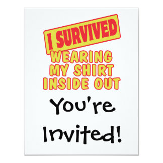 I SURVIVED WEARING SHIRT INSIDE OUT CARD