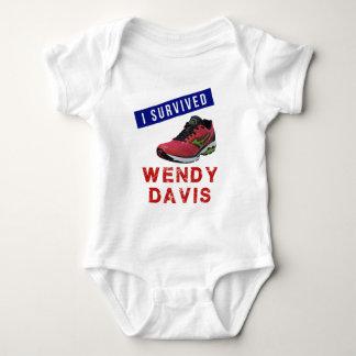 """""""I Survived Wendy Davis"""" Baby Shirt"""