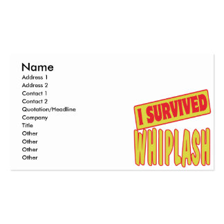 I SURVIVED WHIPLASH Double-Sided STANDARD BUSINESS CARDS (Pack OF 100)