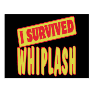 I SURVIVED WHIPLASH POSTCARD