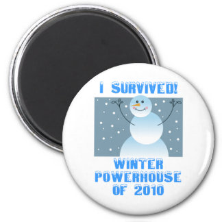 I Survived! Winter Powerhouse of 2010 2 Inch Round Magnet