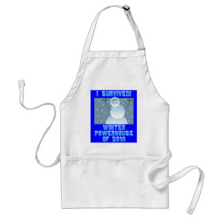 I Survived! Winter Powerhouse of 2010 Adult Apron