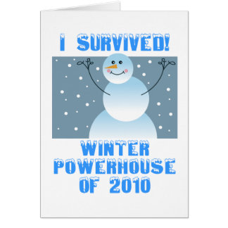 I Survived! Winter Powerhouse of 2010 Card