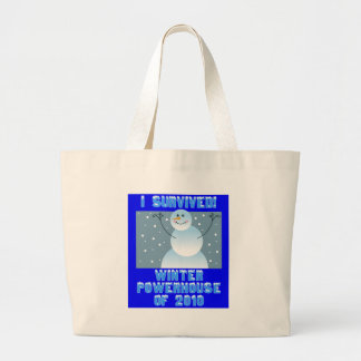 I Survived! Winter Powerhouse of 2010 Large Tote Bag