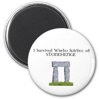 I Survived Winter Solstice at Stonehenge Magnet