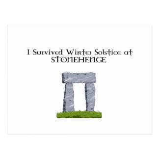 I Survived Winter Solstice at Stonehenge Postcard