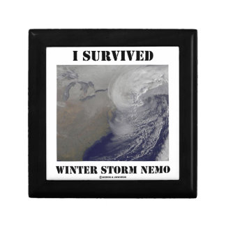 I Survived Winter Storm Nemo (NASA Outer Space) Gift Boxes