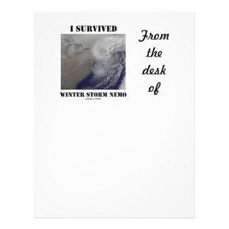 I Survived Winter Storm Nemo (NASA Outer Space) Custom Letterhead