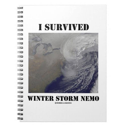 I Survived Winter Storm Nemo (NASA Outer Space) Spiral Note Books