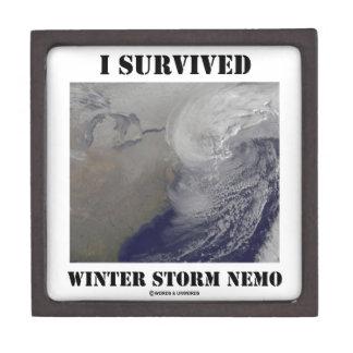 I Survived Winter Storm Nemo (NASA Outer Space) Premium Keepsake Box
