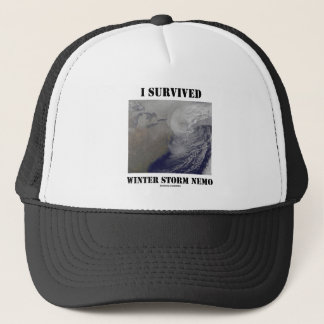I Survived Winter Storm Nemo (NASA Outer Space) Trucker Hat