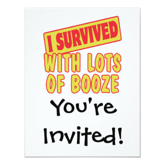 I SURVIVED WITH LOTS OF BOOZE CARD