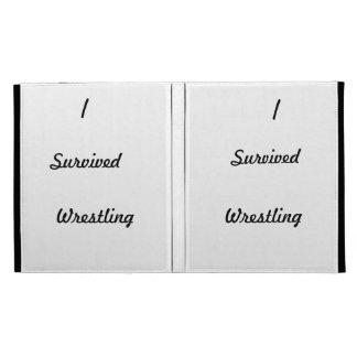 I survived wrestling! iPad cases