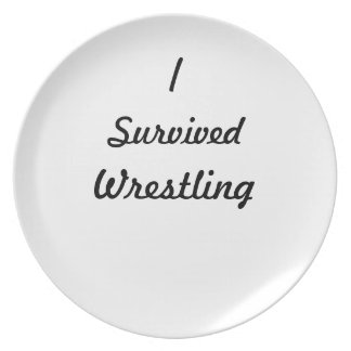 I survived wrestling! dinner plate