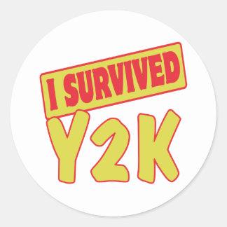 I SURVIVED Y2K CLASSIC ROUND STICKER