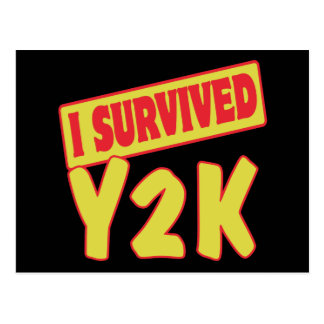 I SURVIVED Y2K POSTCARD