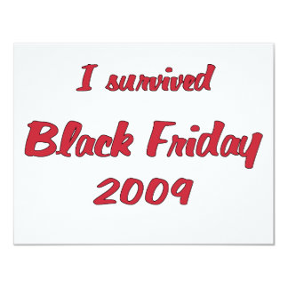 I survivied Black Friday 2009 shopping Card