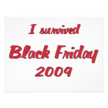 I survivied Black Friday 2009 shopping Personalized Invite