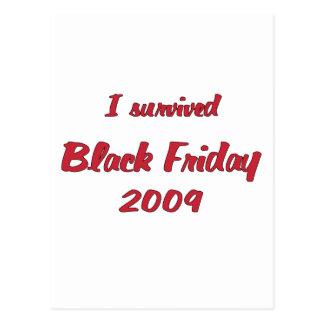I survivied Black Friday 2009 shopping Postcard