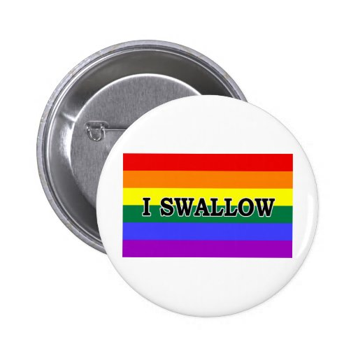 I Swallow 2 Inch Round Button