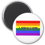 I Swallow 2 Inch Round Magnet