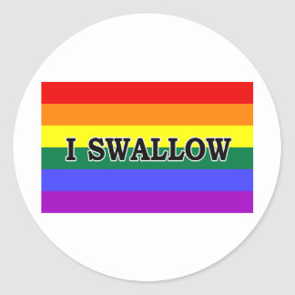I Swallow Classic Round Sticker