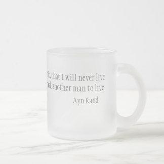 I swear 10 oz frosted glass coffee mug