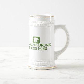 I Swear To Drunk I'm Not God! Beer Stein