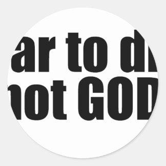 i_swear_to_drunk_im_not_god_tshirt classic round sticker