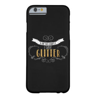 I Sweat Glitter Quote iPhone Case