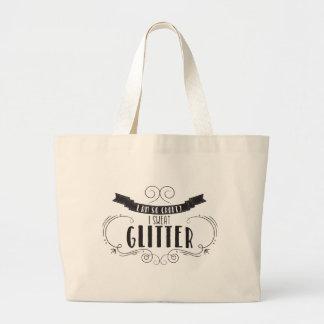 I Sweat Glitter Quote Tote Bag